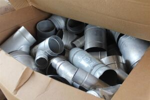 Lot of Aluminum Elbow Fittings (Various Sizes)