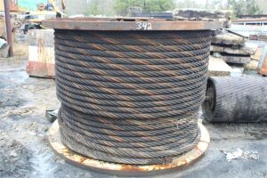 Large Spool of 2 1/2 Inch Wire Rope