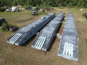 (3) 7x85x5 Truckable Sectional Barges