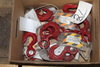 Box of Misc Crosby Hooks