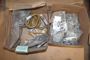 Lot of Misc Rigging - Pearl Rings - Lanyard Hooks - Cable Thimble