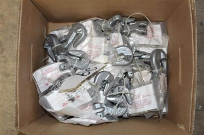 Box of Misc Crosby Chain Hooks
