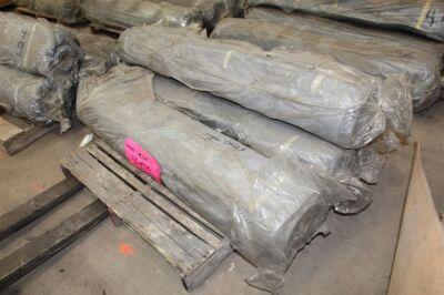 Lot of (4) 100ft Rubber Coated Fire Blanket Rolls - 54 Inches Wide