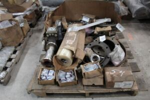 Pallet of Flanges, Knockout Parts, Door Hasp, Misc Elect