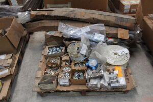 Pallet of Misc Wire Shrink & Electal Fittings