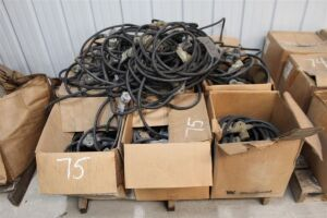 Lot of Woodhead Chain Lights - Heavy Duty - 5ft Spacing