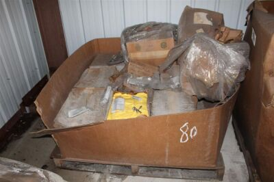 Pallet of Misc Bolts, Protective Suits